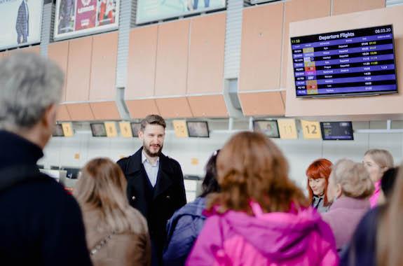 Картинка экскурсия в терминале аэропорта Харьков
