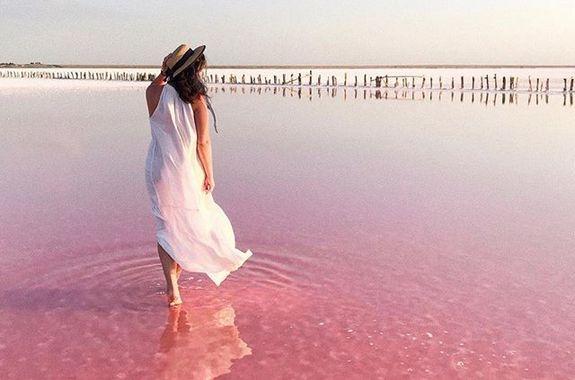 Картинка поездка на Розовое озеро из днепра
