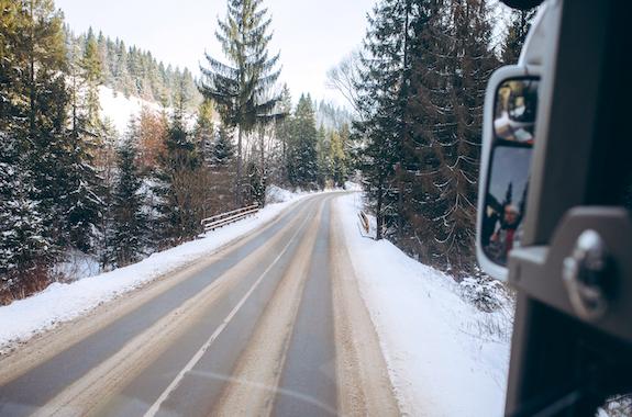 Картинка дорога в Буковель