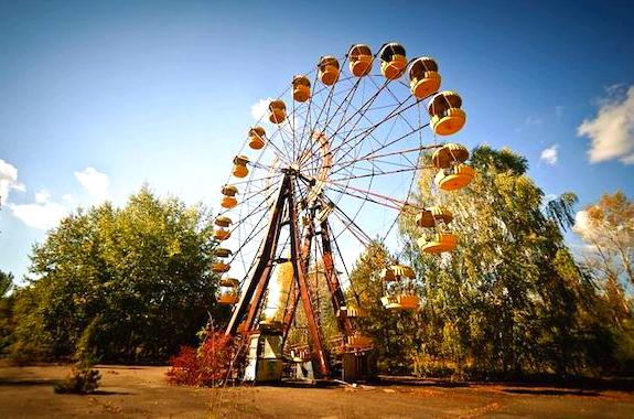 Фото колесо обозрения в Припяти