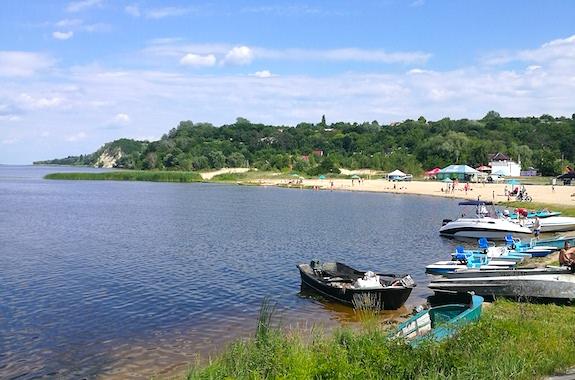 Фото поездка с купанием в реке Днепр