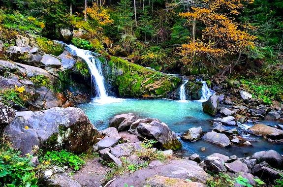 Картинка водопад Каменка в Карпатах