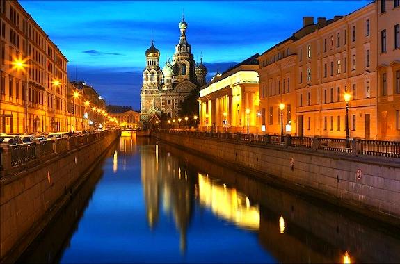 Картинка вид на вечерний Кремль