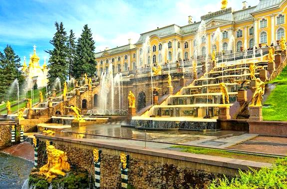 Фото поездка на Большой каскад в Петергофе