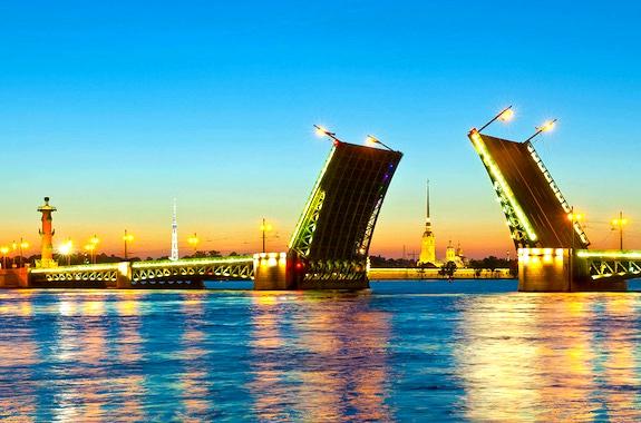 Картинка разводные мосты в Питере