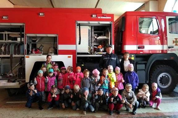 Фото поездка в пожарную часть