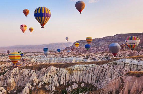 Картинка полет на воздушном шаре в Каппадокии