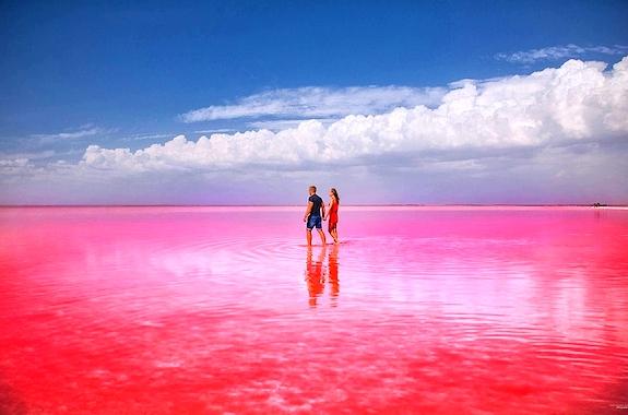 Фото экскурсия на Розовое озеро